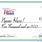 Big Check for Savers Sweepstakes WInner