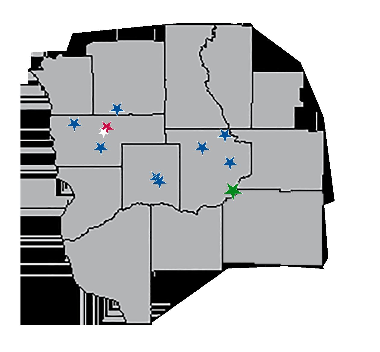 Map of WCCU Service Territory