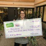 Kristina P Savers Sweepstakes Winner WCCU